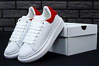 Кроссовки женские Alexander McQueen Oversized Sneakers White/Red Реплика