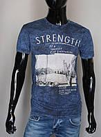 Мужская футболка темно-синяя Турция 5246