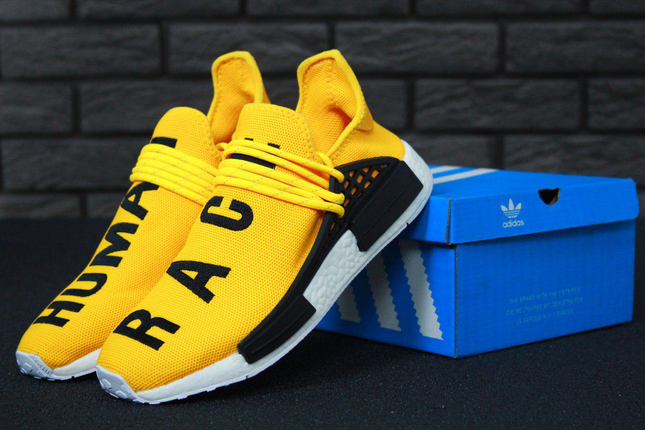 promo code 205fd 47268 Кроссовки мужские Adidas x Pharrell Williams Human Race NMD Yellow/White  Реплика