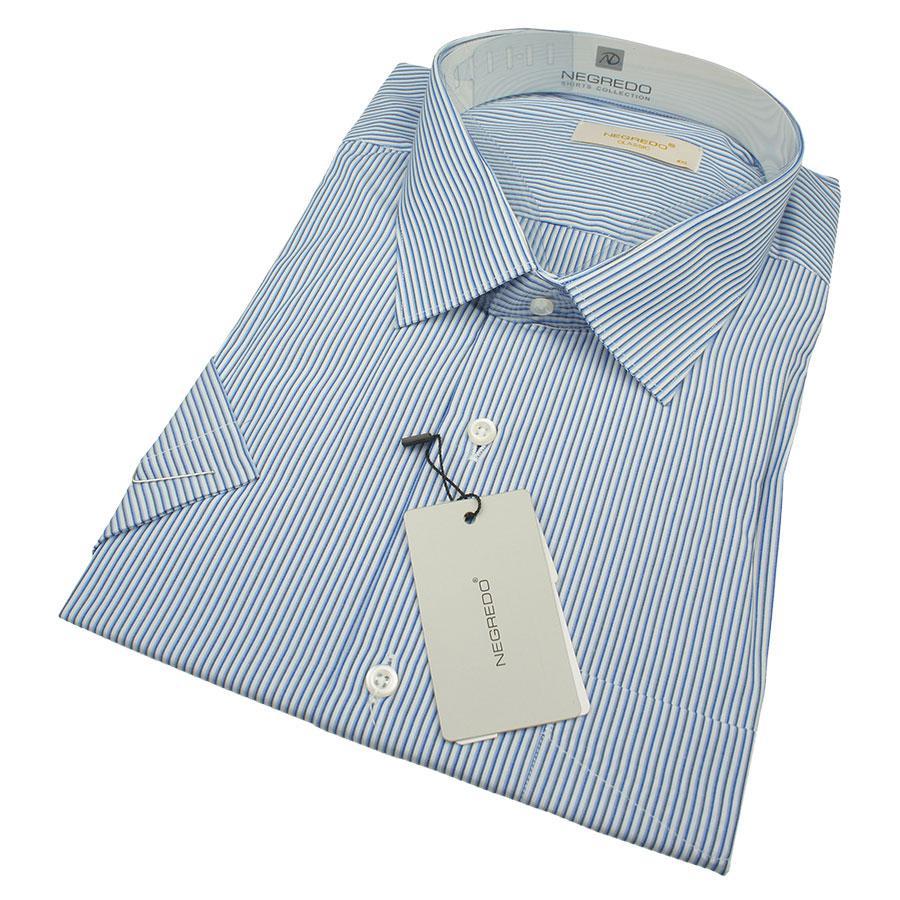 Чоловіча комбінована сорочка Negredo 0330 В Сlassic C розмір 6XL великого розміру