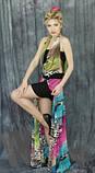 Сарафан жіночий довгий в підлогу молодіжний сарафан літній ошатний шифоновий, фото 3