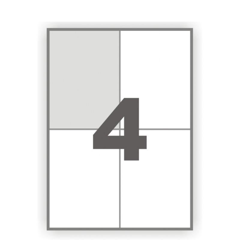 Наклейки прямоугольные с прямыми углами 4 шт., 10,5x14,8 см.