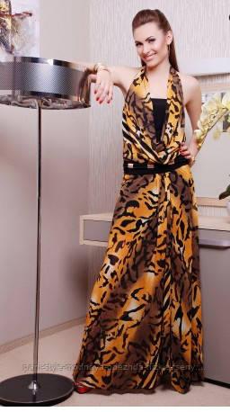 790133832ed Сарафан женский длинный в пол молодежный леопардовый