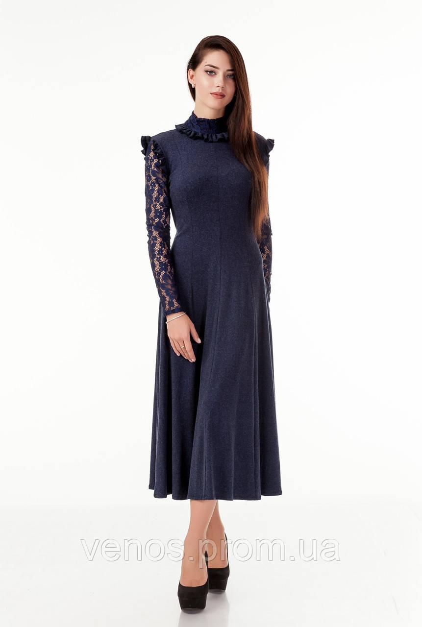 Женское длинное платье клиньями. П_102