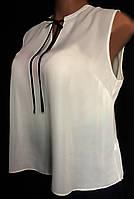Женская блуза Atmosphere, белая, из мягкого креп-шифона, большой размер 52/56, фото 1