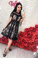Женское красивое кружевное платье, фото 1