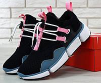 "Мужские кроссовки Nike Pocket Knife DM ""Black/Pink/Blue"". Живое фото. Топ реплика ААА+"