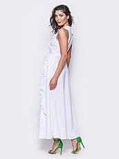 Сукня на запах з м'якою воланом на поличці і по низу білий  розмір 44,46,48, фото 2
