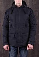 Куртка зимняя мужская с капюшоном DarkSide black B. Живое фото