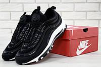 Мужские кроссовки Nike Air Max 97 Black/White. Живое фото (Реплика ААА+)