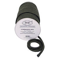 Верёвка 9мм оливковая, 60м, MFH 27505C