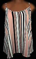 Женская блуза - майка New Look, летняя из фактурного креп-шифона, очень большой размер 54/58, фото 1