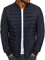 Бомбер мужской куртка темно синяя. Качество. Живое фото (весенняя куртка), фото 1