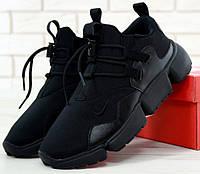 "Мужские кроссовки Nike Pocket Knife DM ""Triple Black"". Живое фото. Топ реплика ААА+"