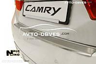 Накладка на бампер с загибом для Toyota Camry V50 FL