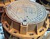 """Люк каналізаційний типу """"ТМ120"""" (Д400) оброблений, з запірним пристроєм, напис """"Київавтодор"""""""