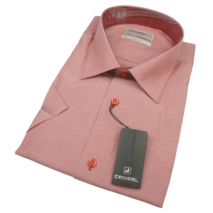 Мужская комбинированная рубашка DSB 0330 В Slim С размер 3XL большого размера