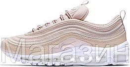 Женские кроссовки Nike Air Max 97 Premium Pink Snakeskin Найк Аир Макс 97 в стиле розовые