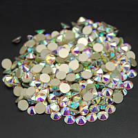 Стразы А+ Премиум клеевые (холодной фиксации), Crystal AB. Набор из трех упаковок ss16, ss20, ss30