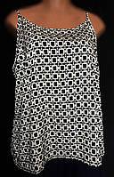 Женская блуза - майка LabelBe, летняя из тонкого шелка, очень большой размер 54/58, фото 1