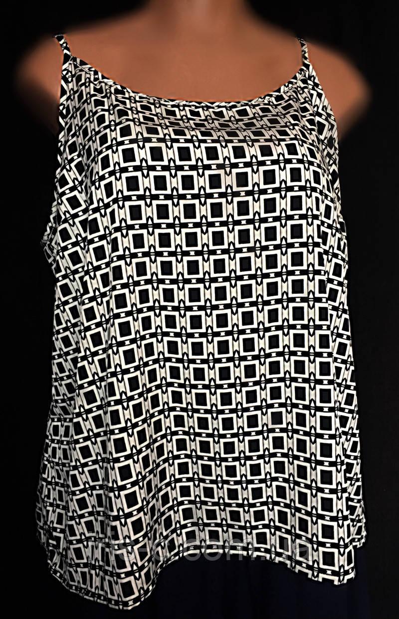 Женская блуза - майка LabelBe, летняя из тонкого шелка, очень большой размер 54/58