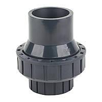 Обратный клапан ПВХ Ø20мм «ERA» пружинный (с задвижкой)