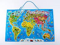 Магнитная карта-пазл Карта мира
