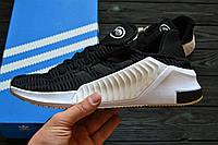 Кроссовки Adidas Climacool 02/17 black and white. Живое фото. Топ качество! (Реплика ААА+)
