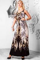 Сарафан женский длинный в пол большого размера, сарафан шифоновый летний молодежный, фото 1