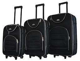 Набор чемоданов на колесах Bonro Lux Черный-клетка 3 штуки