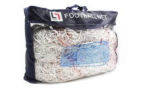 Сетка футбольная узловая Размер: 7,4*2,5м. C-3346