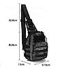 Тактическая,штурмовая, военная сумка рюкзак Пиксель ЗСУ, фото 9
