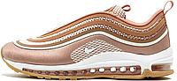 Женские кроссовки Nike Air Max 97 UL'17 Metallic Rose Gold (Найк Аир Макс 97) в стиле бронзовые