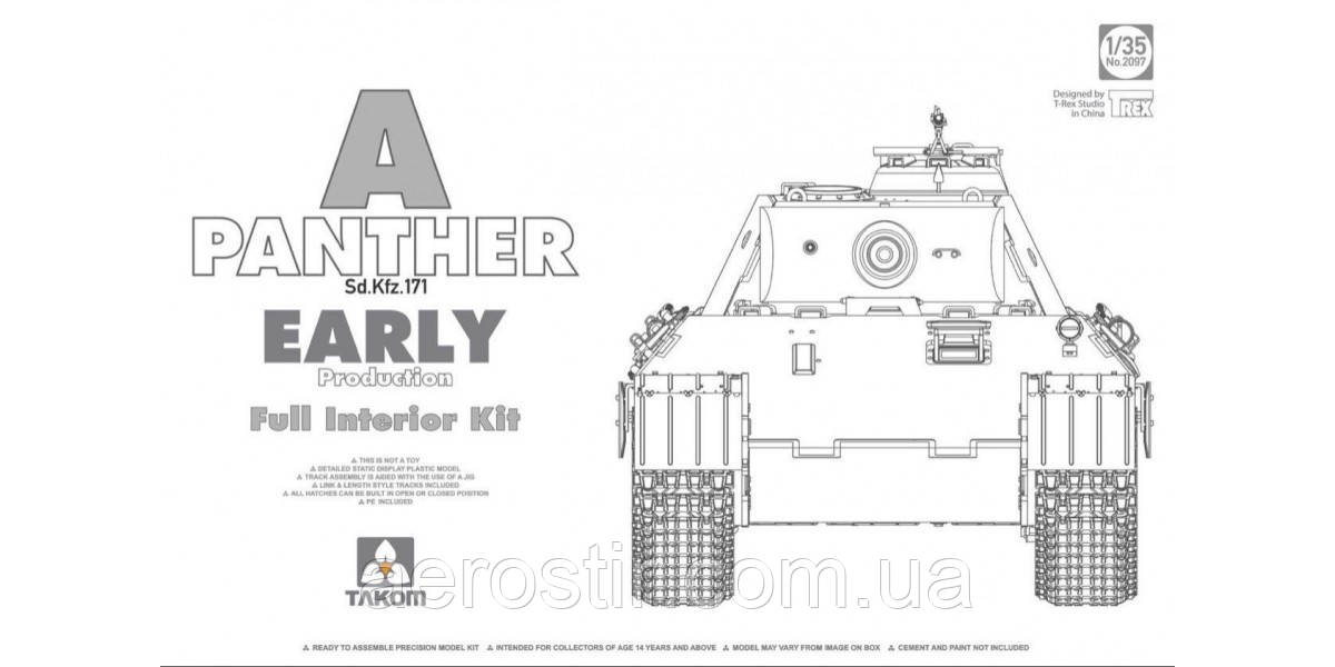 Panther Ausf.A early Production w/ Full interior 1/35  Takom 2097