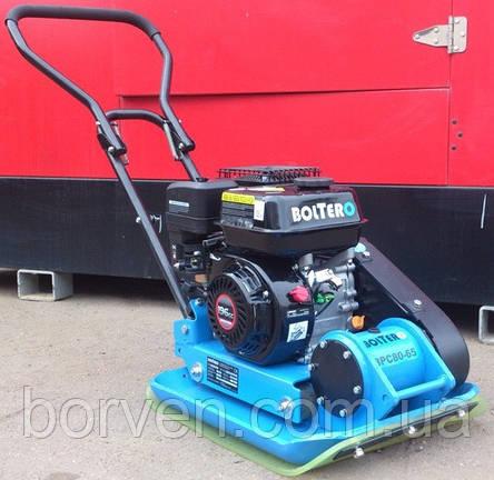 Виброплита Boltero BPC80-65RW, 90 кг + коврик + колеса, фото 2