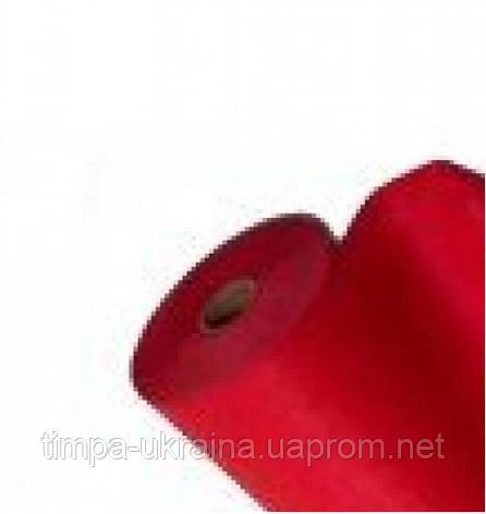 Простыни на кушетку рулон (100м х 0,6м) красный (Timpa), фото 2