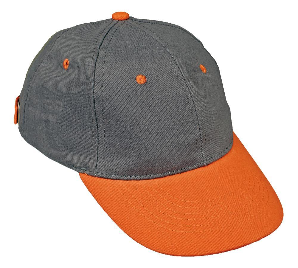 Бейсболка хлопок Červa Desman серая с оранжевым
