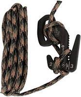 Фигура 9 большая чёрная Nite Ize + верёвка Camo F9L-03-01CAMO