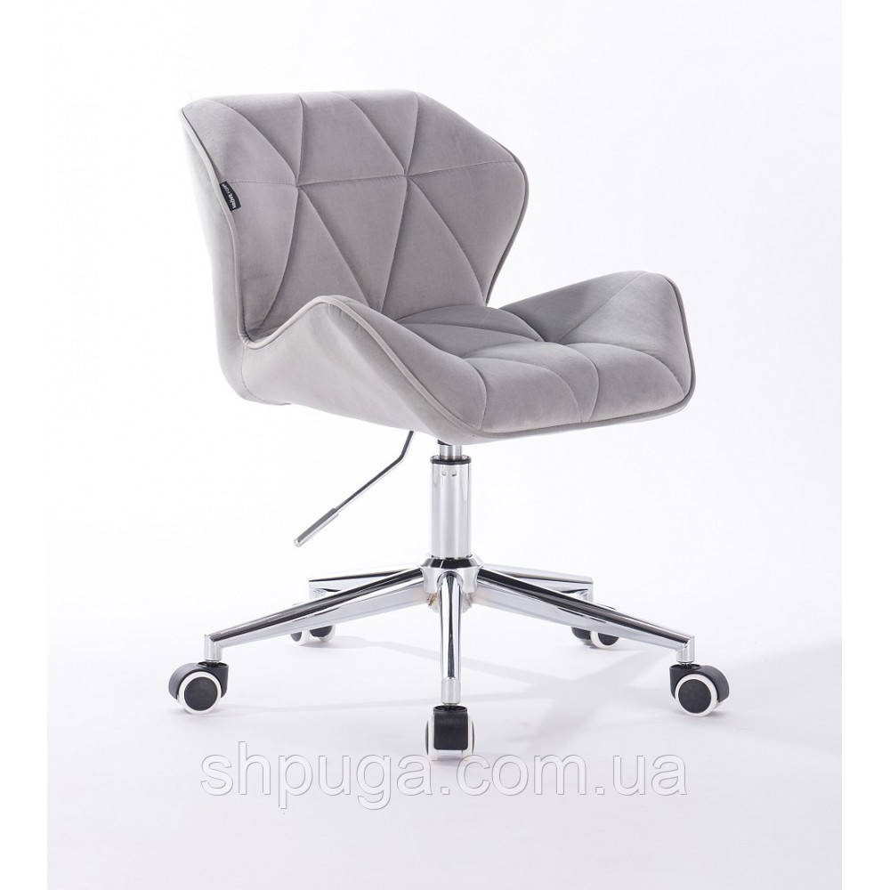 Кресло HR111K стальной велюр