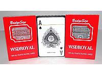 Карты пластиковые WSDRoyal 1 колода (светлые) I5-25, колода игральных карт, пластиковая колода карт