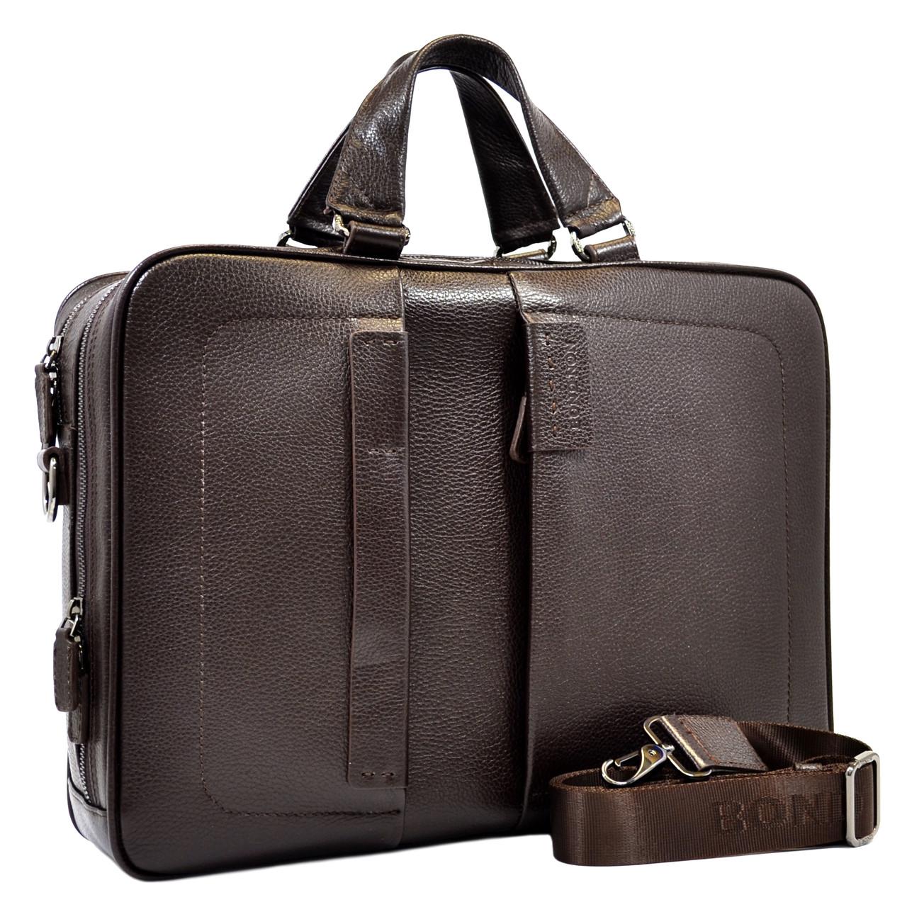 Большая деловая сумка Bond из кожи