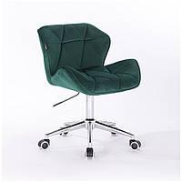 Кресло HR111K бутылочный зеленый велюр , фото 1