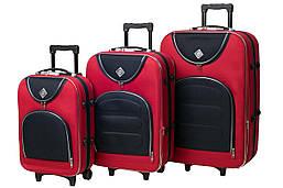 Набор чемоданов на колесах Bonro Lux Красный- темно-синий 3 штуки