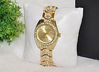 Женские часы Ролекс со стразами золотистые., фото 1