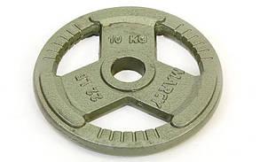 Блины стальные с хватом 10кг (диам. 52мм) TA-8026-10