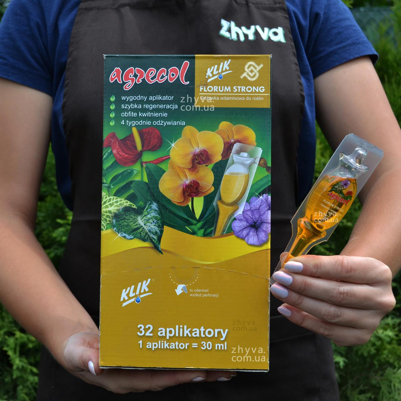 Agrecol Добриво аплікатор для квітучих Florum Strong 30мл Агрекол (1шт)