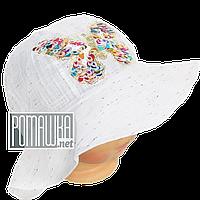 Детская панамка для девочки р. 50 ТМ Ромашка 4066 Белый