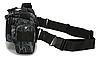 Сумка тактическая через плечо цвет черный), фото 3