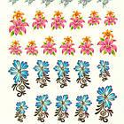 Водні Наклейки для Нігтів Різнокольорові, Декор нігтів, Манікюр, Angevi S 024 Квіти, Лілії, Метелики, фото 3