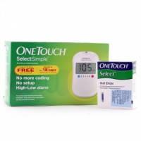 Глюкометр One Touch Select Simple с 25 тест-полосками в комплекте (LifeScan, США)